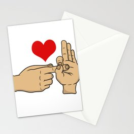 I Love S*x Hand Gesture Funny Adult Humor Shirt For Adults T-shirt Design Naughty Fuck Sex Vagina Stationery Cards