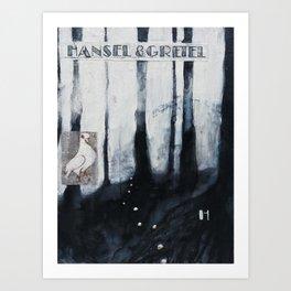 H is for Hansel & Gretel Art Print