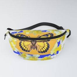 GOLDEN DAFFODILS YELLOW MONARCH FLORAL PATTERN Fanny Pack