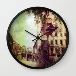 London Street Life Wall Clock