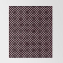 Black and Rose Wine Polka Dots Throw Blanket