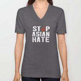 stop asian hate Unisex V-Neck