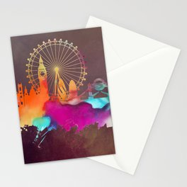Original London skyline art Stationery Cards