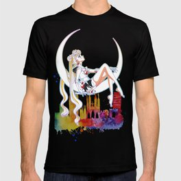 Can not Fight The Moonlight Watercolor Version T-shirt