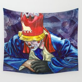 Thinking Clown Wall Tapestry