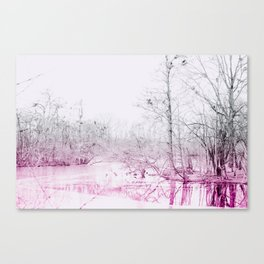 Snowy Lake Canvas Print