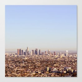 Downtown Los Angeles Skyline - Los Angeles Iconic Canvas Print