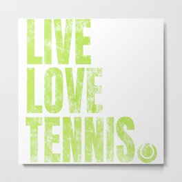Tennis Player Game Love Ball Sports Gift Metal Print