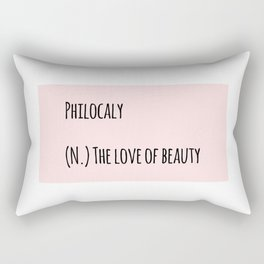 The Love Of Beauty Rectangular Pillow