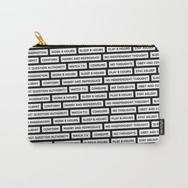 They Live We Sleep Texture Carry-All Pouch