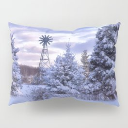 Windmill in the Snow Pillow Sham