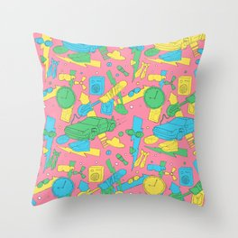 Back to the Doodles Throw Pillow