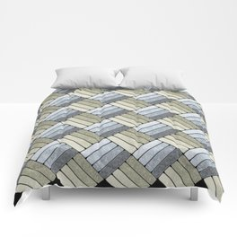 Pattern Play in Grays Comforters