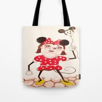 minnie Tote Bags featuring Minnie  by ZarsStudio