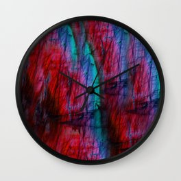 Rainbow Labradorite Wall Clock