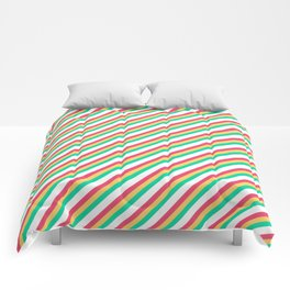 Candy Inclined Stripes Comforters