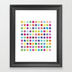 Colourful Dots  Framed Art Print
