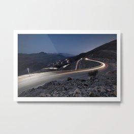 Jebel Jais at Night Metal Print