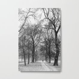 Winter jog Metal Print
