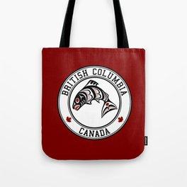 Native American Red Black Graphic Vector Salmon Tote Bag