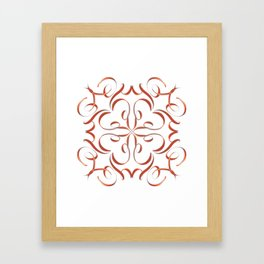 Hand Drawn Modern Mandala Framed Art Print