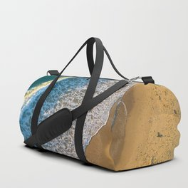 Waves on The California Coast Aerial Nature Photography Duffle Bag