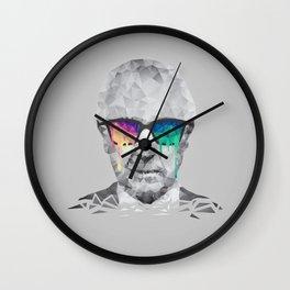 Albert Hofmann - Psychedelic Polygon Low Poly Portrait Wall Clock