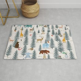 little nature woodland Rug
