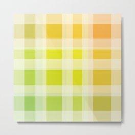 Green, Yellow, Orange Plaid Metal Print