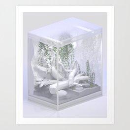Enclosure (for a lizard) Art Print
