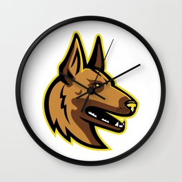 Belgian Malinois Dog Mascot Wall Clock