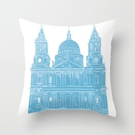 St Paul's Cathedral - London architectural print Throw Pillow
