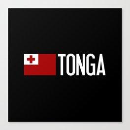 Tonga: Tongan Flag & Tonga Canvas Print