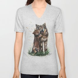Wolf - Father and Son Unisex V-Neck