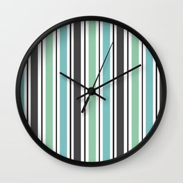 Vertical stripes 2 Wall Clock
