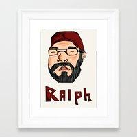 wreck it ralph Framed Art Prints featuring RALPH by Shanestrikesback