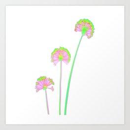 three flowers 2 . Art Print