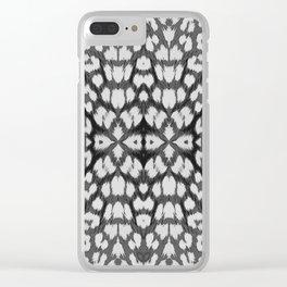 Leopard Print - Grey Clear iPhone Case