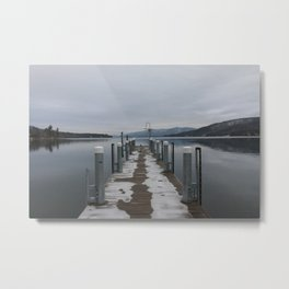 Lake George Dock Metal Print
