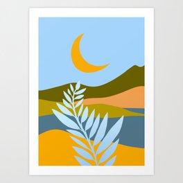Ojai Nightscape Art Print