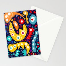 Night Life Abstract Art pattern decoration Stationery Cards