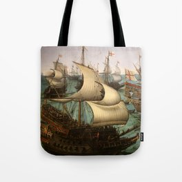 "Hendrick Cornelisz Vroom ""The meeting of Frederic V and Elizabeth Stuart on the sea"" Tote Bag"