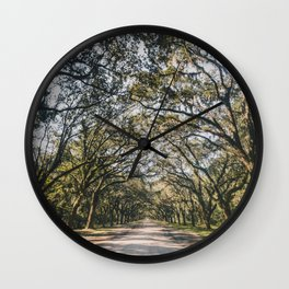 Wormsloe Live Oak Avenue - Savannah Wall Clock