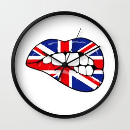 United Kingdom Lips Wall Clock