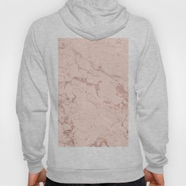Modern rose gold glitter ombre foil blush pink marble pattern Hoody