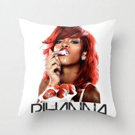 Ssshhh Rihanna! Throw Pillow