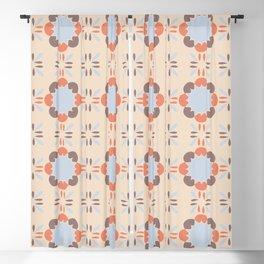Blue Retro Tile Blackout Curtain