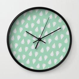Arrow heads - Mint Green / Hemlock Wall Clock