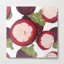 Mangosteen Pattern Metal Print