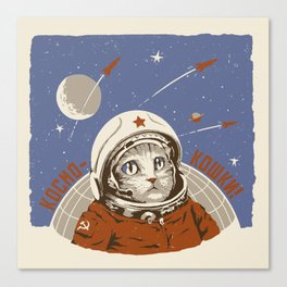 Soviet Space Cat Canvas Print